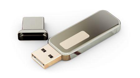 Usb flash memory isolated on white background Stock Photo - 7945652