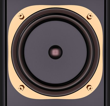 modern speaker system isolated on white photo
