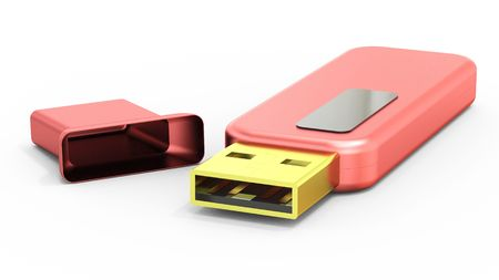 Usb flash memory isolated on white background Stock Photo - 7945745
