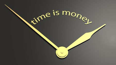 clockface: Clock-face with text time is money