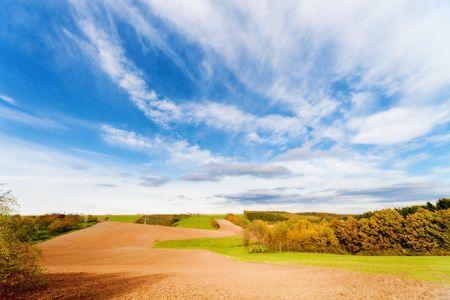 arable: autumn  ploughed arable field