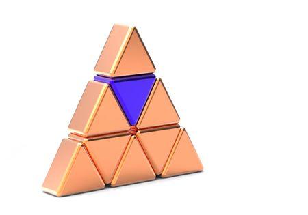 Concept of unique blue  metal  triangle  Stock Photo - 8146832