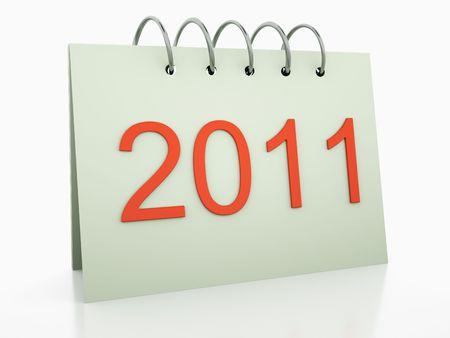 3d calendar 2011 year photo