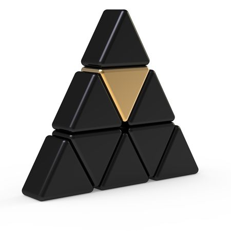 pyramid shape: 3d abstract triangle icon
