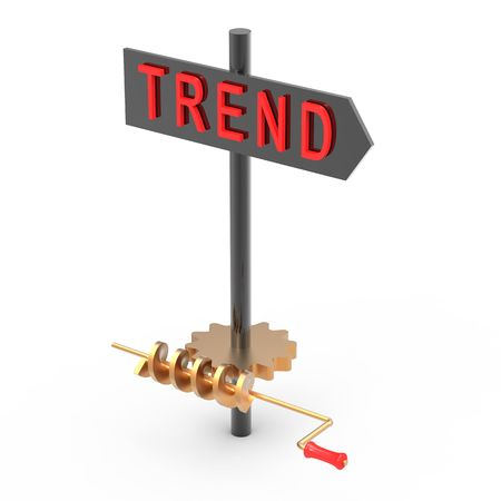 Point board Trend with direction management photo
