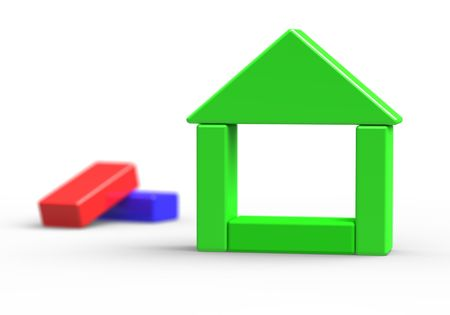 building activity: little toy green house  3d model