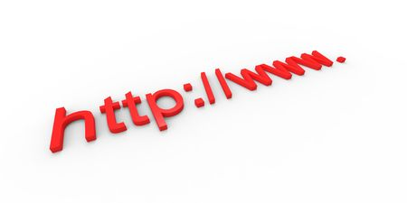 http  www: http www concept text on white Stock Photo