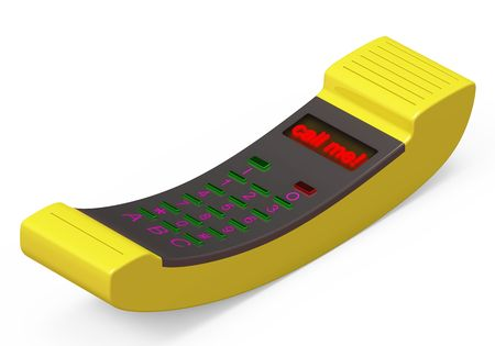 Yellow Phone tube with text Call me photo