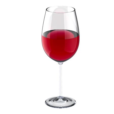 glass of white wine: Wineglass with red wine isolated on white Stock Photo