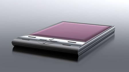 modern metal cell phone  on black Stock Photo - 8186904