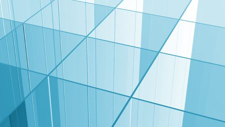 Blue Glass grid abstract background photo