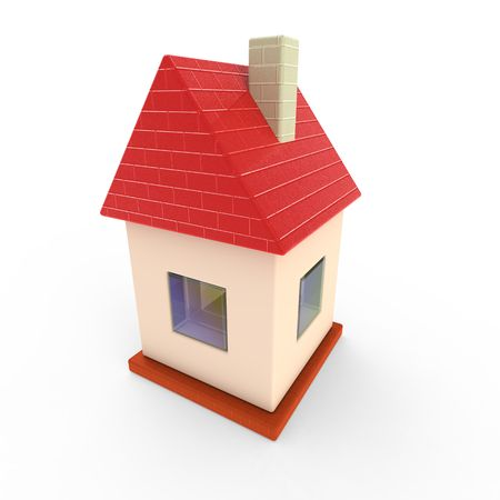 Little toy 3d house Stock Photo - 8219887