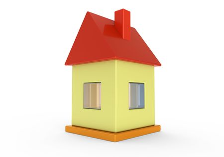 Little toy 3d house Stock Photo - 8219872