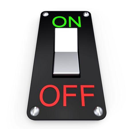 hands off: Mezclador de energ�a el�ctrica 3d en blanco  Foto de archivo