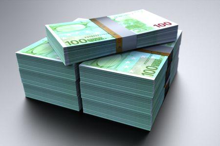 Euro money paper on metal background Stock Photo - 8219883
