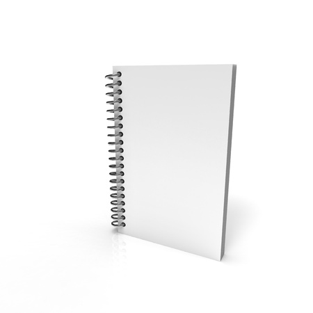 Paper notebook with metal spring Stock Photo - 8255059