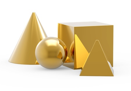 abstract geometric gold icon photo