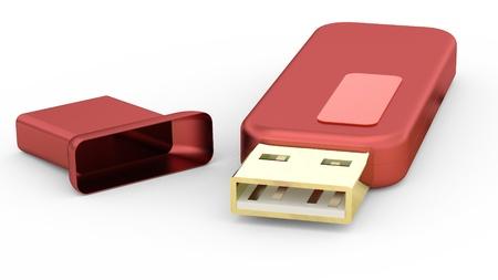 Usb memory stick isolated on white Stock Photo - 8302198