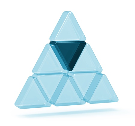 Abstract triangle glass 3d icon photo