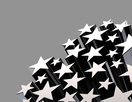 Stars decoration background in frame Stock Photo - 8345904