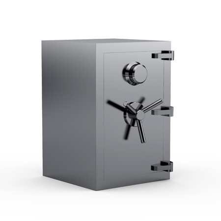 Black metal safe box 3d Stock Photo - 8345924