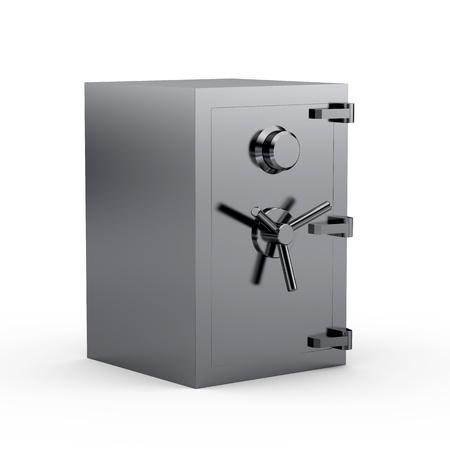 Black metal safe box 3d Stock Photo - 8345924
