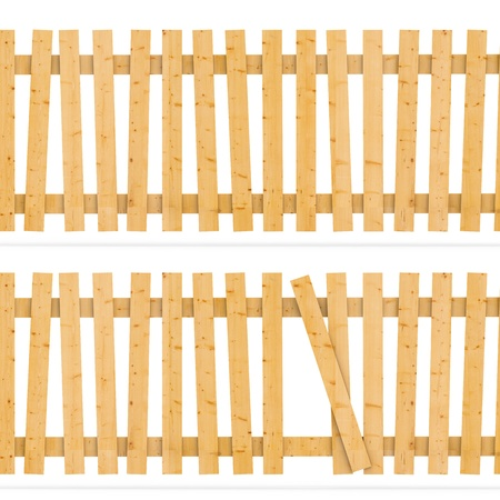 Wooden fence  3d background Stock Photo - 8345948