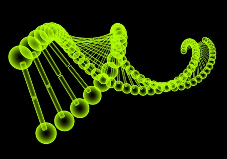 helix: Model of the dna molecule Stock Photo