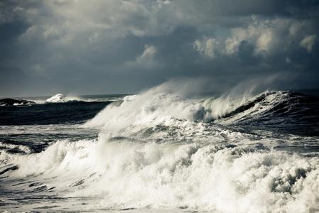Storm in Oceaan, Canarische eiland