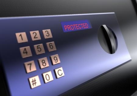 Digital metal safebox photo