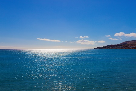 Solar flares on a sea surface photo