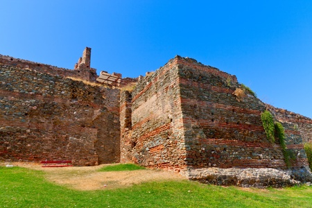 fortification and wall from historic Thessaloniki city in Greece