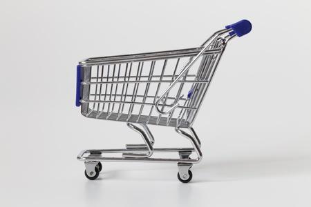 Shopping Cart on gray background Stock Photo - 9118117