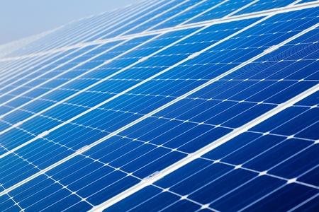 Photovoltaic solar power panel battery photo