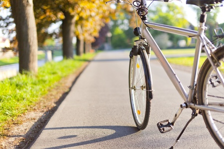 Bike in autumn park Stock Photo - 9553865
