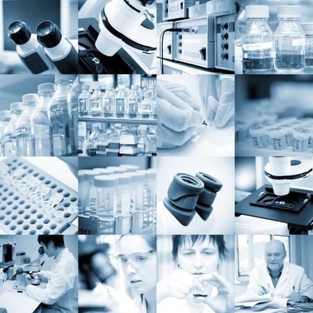 bata de laboratorio: conjunto de investigación de biología química