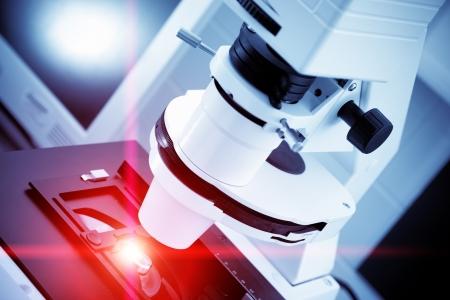 microscope: tratamiento de láser de componentes de semiconductores nano