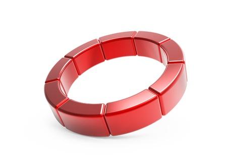 sectores: Anillo de metal de los sectores rojo