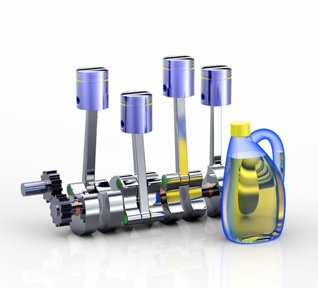 greasing: Motor de combusti�n interna en blanco
