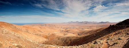 Volcano Mountains landscape Fuerteventura island Stock Photo - 12054459