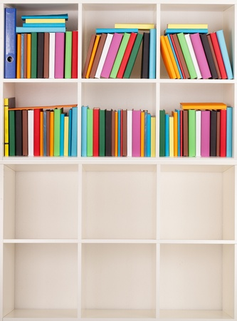 Empty and full Bookcase library Stock Photo - 12285499