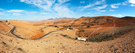 lacet: Winding road in the mountainous region of the volcanic island of Fuerteventura