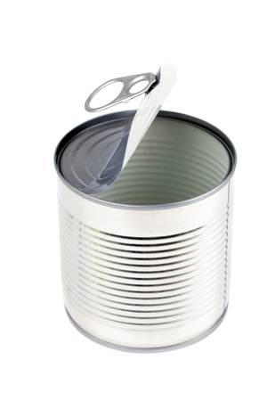 conservatives: Open empty metal tin can