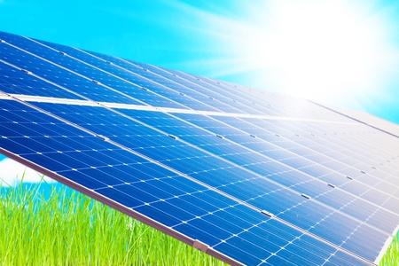 Solar panel power energy industry photo