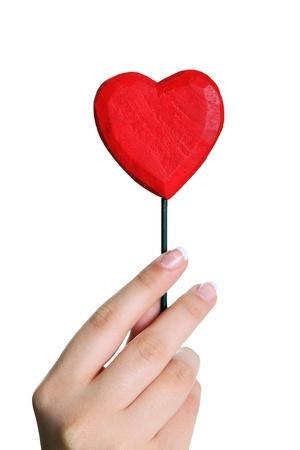 heart in girl hand photo