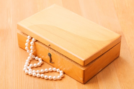 coffins: Casket with pearls Stock Photo