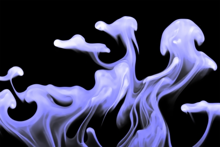 dissolution: Abstract pattern of dissolution of ink in water Stock Photo