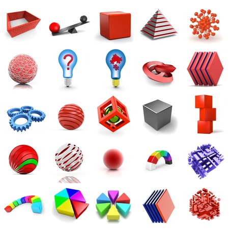 tessera: Set of abstract 3d shapes