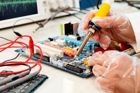 refit: Repair of computer board soldering
