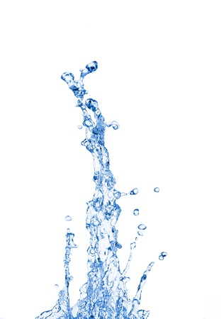 water splash: Salpicaduras de agua sobre fondo blanco Foto de archivo